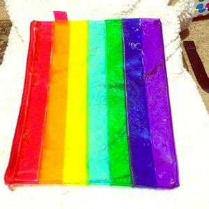 Rainbow Envelope Carrier, Cosmetics/Toiletries BAG